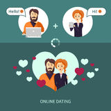 On-line dating royalty free stock photo