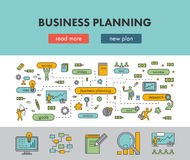 Line design concept banner for business planning. Vector landing page Royalty Free Stock Photos