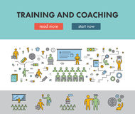 Line design concept banner for training and coaching Royalty Free Stock Image