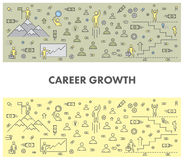 Line design concept web banner for career growth Stock Photos