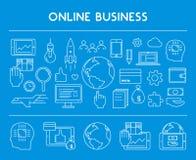 Line design concept web banner for online business. Stock Image