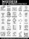 Line design icons- business strategy Royalty Free Stock Images
