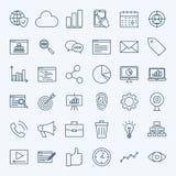 Line Development Icons Stock Image