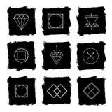 Line diamond wireframe shape design logos and Royalty Free Stock Photo