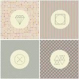 Line diamond wireframe shape design logos and Stock Photography