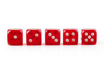 Line of dice Royalty Free Stock Photos