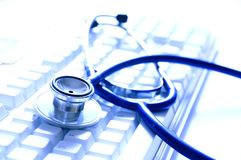 On-line doctor Stock Photo