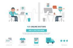 On-line-Doktorkonzept Lizenzfreies Stockfoto