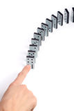 Line of domino pieces Stock Photos