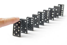 Line of dominos Stock Photography
