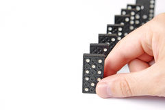 Line of dominos Stock Images