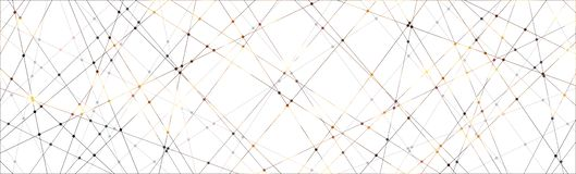 Line and dot pattern background. Technology concept stock image