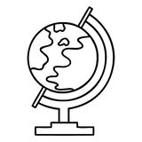 Line drawing cartoon of a world globe. Illustrated line drawing cartoon of a world globe royalty free illustration