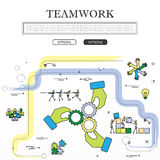 Line drawing of concept of team & teamwork vector graphic Stock Photo