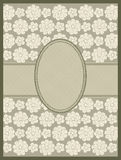 Line drawing floral frame. vector Stock Photos