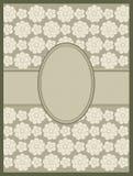 Line drawing floral frame. vector vector illustration