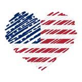Line drawing heart - USA Stock Photography
