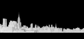 Line Drawing of New York City Royalty Free Stock Image