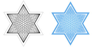 Line Drawing of Star of David Royalty Free Stock Images