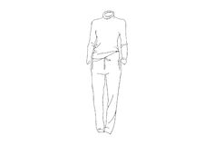 Line Drawings. Royalty Free Stock Photo