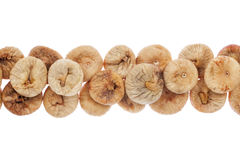 Line of  dried  figs Stock Photography