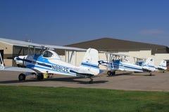 Line of Eagle aircraft. A line of Eagle aircraft on the tarmac royalty free stock photo