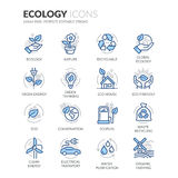 Line Ecology Icons Stock Image
