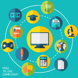 On-line education background. Stock Photography
