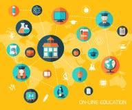 On-line education background. Royalty Free Stock Image