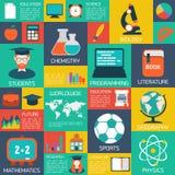 On-line education background. Stock Image