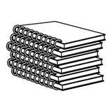 Line education notebooks school tools design royalty free illustration