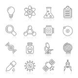 Line Education and Science icons Stock Photography