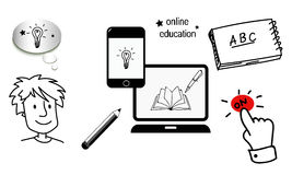 On line education start. Royalty Free Stock Image
