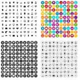 100 on-line-eingestellter Vektor des Seminars Ikonen verschieden vektor abbildung