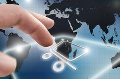 On-line-Einkaufen Lizenzfreies Stockbild