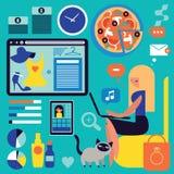 On-line-Einkaufen Lizenzfreies Stockfoto