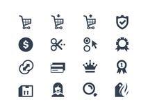 On-line-Einkaufsikonen lizenzfreie abbildung