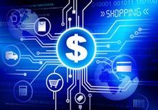 On-line-Einkaufskonzept-Vektor Stockbilder