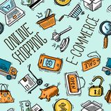 On-line-Einkaufsmuster Lizenzfreies Stockfoto