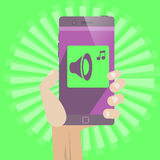 On-line-Einkaufstelefon Stockbilder