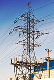 Line of electricity transmission Stock Image