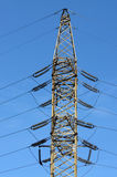 Line of electricity transmission. Royalty Free Stock Image