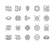 Line Electronics Icons vector illustration