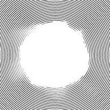 Line elements circle halftone background Stock Image