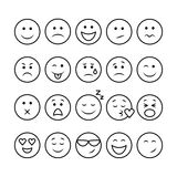 Line emoticons set Royalty Free Stock Images