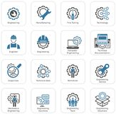 Line Engineering Icons Royalty Free Stock Images