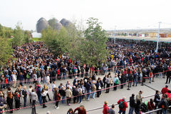 Line for expo Royalty Free Stock Photography