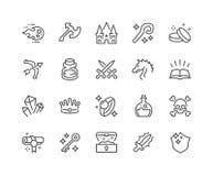 Line Fantasy Icons Royalty Free Stock Photos