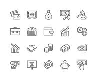 Line Finance Icons. Simple Set of Finance Related Vector Line Icons. Contains such Icons as Taxes, Money Management, Handshake and more. Editable Stroke. 48x48 Vector Illustration