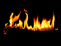 Line of fire Royalty Free Stock Photography